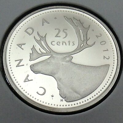 2012 Canada Nickel Proof 25 Cents Quarter Canadian Uncirculated Coin E207