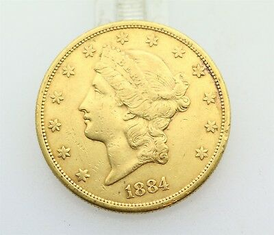 1884 S Gold $20 Liberty Double Eagle Coin