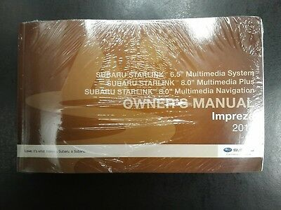 2017 Subaru Impreza Starlink & Navigation System Manual - Brand New and Sealed