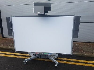 """SMART SB685 87"""" inch Interactive Whiteboard + UF60 Projector 2200 + Mobile Stand"""