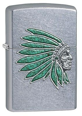 Zippo Lighter: Indian Head - Street Chrome 76515
