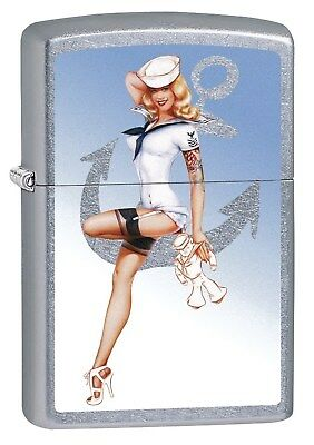 Zippo Lighter: Olivia De Berardinis Pin-up Girl Red Sky - Street Chrome 78441