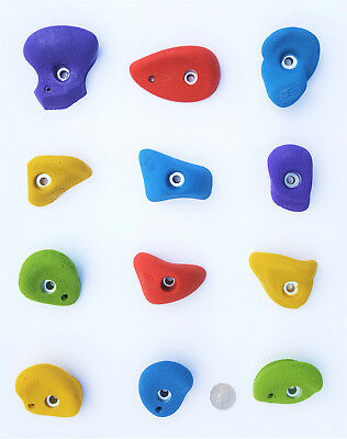 Climbing Holds, Kids Cubby House, 12 Holds. Made By X-Es Climbing Holds.