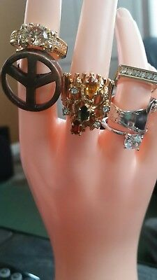 Vintage/antique Variety,estate Sale,must See,lot Of 6,fabulous,rings