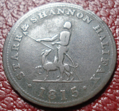 1815 Star & Shannon, Halifax, Ns Half Penny Token In Vg Condition (Ns-11A1)