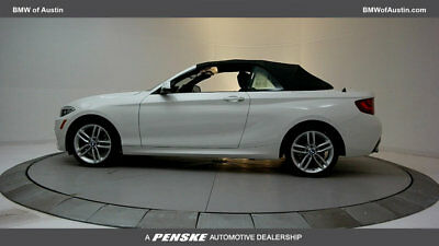 2017 BMW 2 Series 230i 230i 2 Series 2 dr Convertible Automatic Gasoline 2.0L 4 Cyl Alpine White
