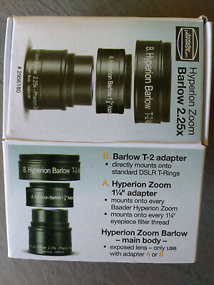 Baader Hyperion Zoom Barlow 2.25x lens