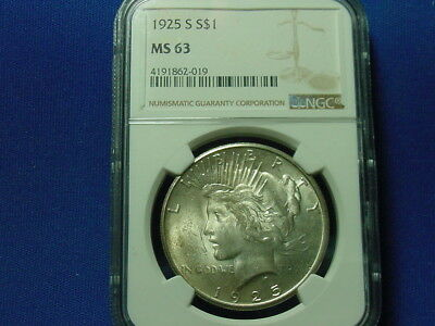 1925-S Peace Dollar NGC MS63