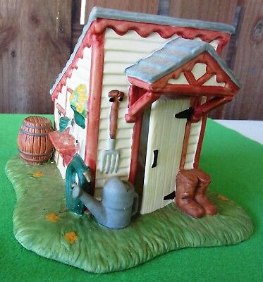 Partylite Villages P0700 Garden/tool Shed Candle/tealight Holder