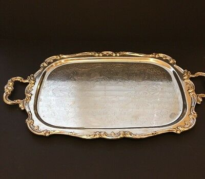 "Gorham Heritage Silverplate Tray YH316 Part Of A Tea Set 20"" X 15"""