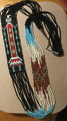 13 Strands Vintage Native American Multi Color Seed Bead Necklace