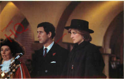Postcard:-PRINCE CHARLES AND PRINCESS DIANA, AT CHESTERFIELD [SOVEREIGN SERIES]