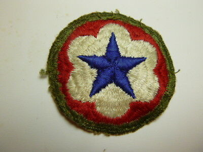 A   WW 2 U S Army Service Forces O D Border Ribbed Cut Edge Snow Back Patch