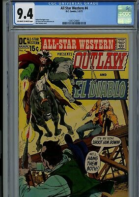 All Star Western #4 Cgc Nm 9.4 Ow/w Pages Neal Adams Cover