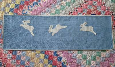 Just Too Cute! Vintage 1920s Applique QUILT Bunny Runner #1