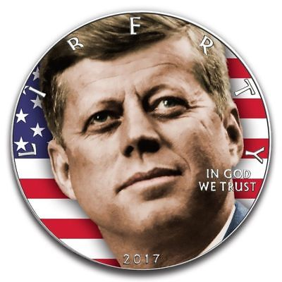 2017 1 oz .999 fine silver John F. Kennedy JFK Walking Liberty Coin