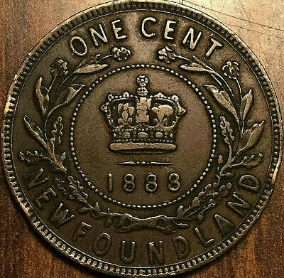 1888 NFLD NEWFOUNDLAND LARGE 1 CENT rare keydate truly scarce in this condition!