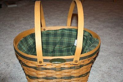 Longaberger Large Oval Easter Basket Protector Liner Traditions Collection 1996
