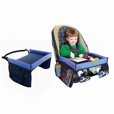 Child Safety Waterproof Baby Car Seat Table Kids Play Snack Travel Tray Drawing