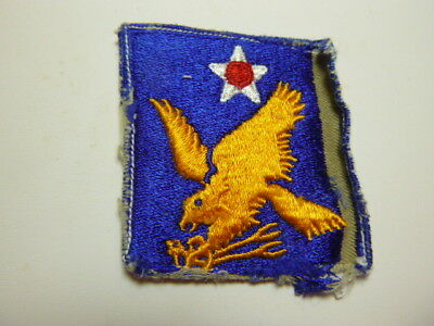 A    WW 2 U S Army 2nd Air Force  Cut Edge Snow Back Patch GLOWS ERROR