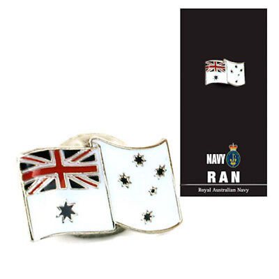 Royal Australian Navy White Ensign Badge On Card - Brand New