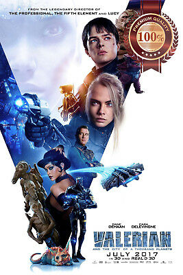 New Valerian And The City Of A Thousand Planets Film Cinema Print Premium Poster