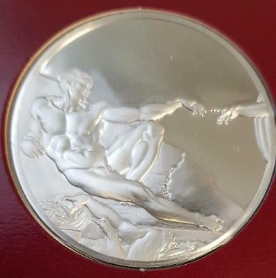 100 Greatest Masterpieces 2.08oz Sterling Silver Proof - The Creation of Adam