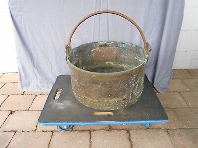 Copper Large Pot With Ring Handle