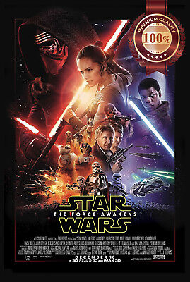 New The Force Awakens Star Wars Official Original Cinema Print Premium Poster