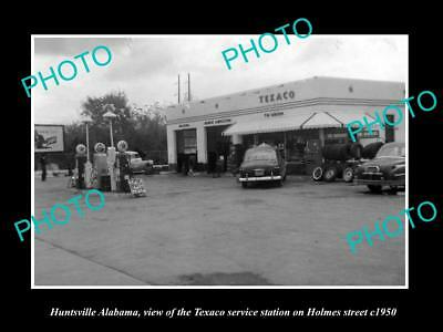 OLD LARGE HISTORIC PHOTO OF HUNTSVILLE ALABAMA, TEXACO SERVICE STATION c1950 2