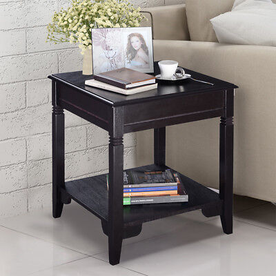 Pleasant 2 Tier Side Coffee Table Tray Sofa Bedside Tables Couch Room Console End Stand Download Free Architecture Designs Itiscsunscenecom