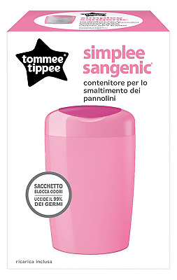 Tommee Tippee 87003001 Simplee of Nappy Disposal System pink
