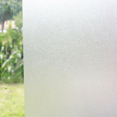 1 Roll Frosted Glass Film Static Cling Office Bathroom Home Window Privacy Eyefu