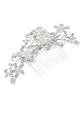 Taymee Lifestyle Bridal Wedding Hair Accessories Clips Pearls Crystal Clip-in-Pi