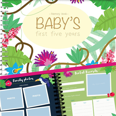 MEMORY BOOK + STICKERS - Unconditional Rosie Baby Girl's FIRST FIVE YEARS Record