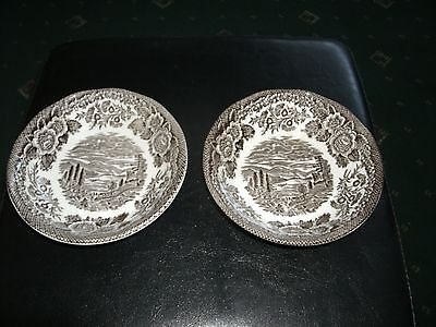 ENOCH WEDGWOOD (TUNSTALL)  'LOCHS of SCOTLAND'  c.1950's PAIR OF SMALL DISHES