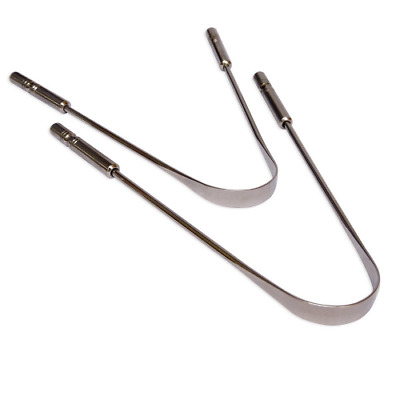 Surgical Grade Set of 2 Stainless Steel Tongue Cleaner | Stainless Steel Tongue