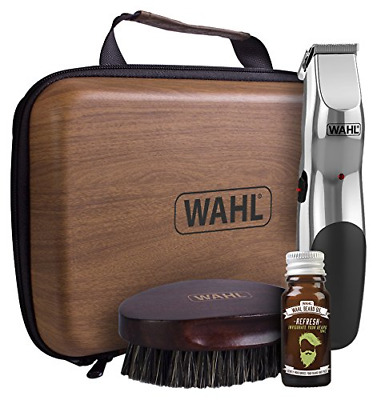 Wahl Beard Care Rechargeable Trimmer Beard Oil and Beard Brush Kit