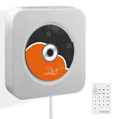 VIFLYKOO Bluetooth CD Player Wall Mountable HiFi Speaker Radio with Remote Contr