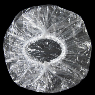 Disposable Shower Caps,Hair Processing Clear Plastic Caps For Spa,Home Use,Hotel