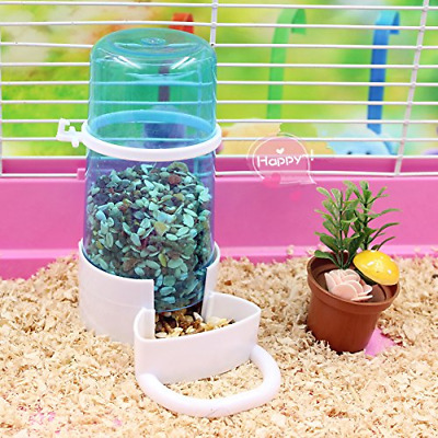 TeaQ 2 in 1 Automatic Pet Feeder and Water Dispenser for Hamster Gerbil Bird Sma
