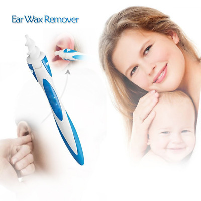 Ear Wax Remover, Ear Cleaner Earwax Removal Tool Smart Swab Spiral Cleaner Kit w