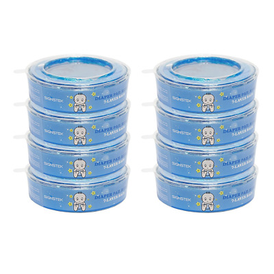 Signstek Nappy Disposal Refills for Angelcare Nappy Disposal Systems (Pack of 8)