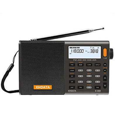 XHDATA D-808 Portable Digital Radio FM stereo/ SW / MW / LW SSB RDS Air Band Mul