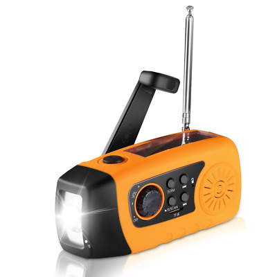 Emergency Hand Crank, Unionshopping Self Powered FM Solar Weather Radio with LED