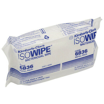 Halyard Isowipes Bactericidal Wipes 12 Refill Packs (6836)