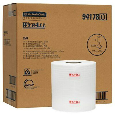 Wypall X70 Centrefeed Roll Wipers 4 Rolls x 220 Wipers (94178)
