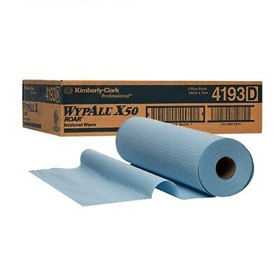 WYPALL X50 Large Roll Wipers Blue 3 Rolls 49cm x 70m (4193)