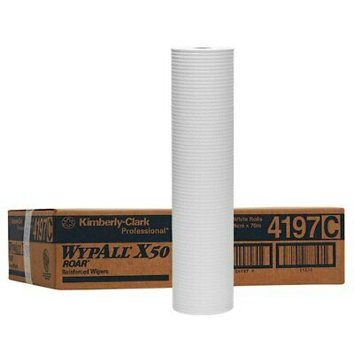 WYPALL X50 Large Roll Wipers White 3 Rolls 49cm x 70m (4197)