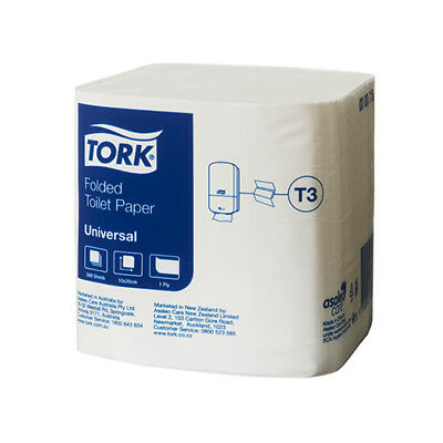 Tork   Folded Toilet Paper T3 Universal 1Ply 36 x 500 Sheets (718)